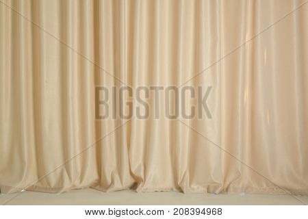 Beautiful modern curtains in room