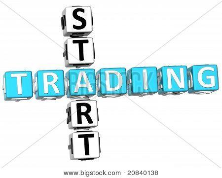 3D Start Trading Crossword