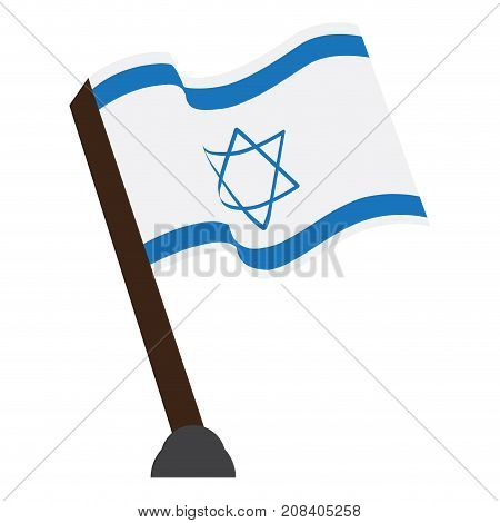Isolated flag of Israel on a white background, Vector illustration