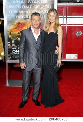 Josh Brolin and Kathyrn Boyd at the Los Angeles premiere of 'Only The Brave' held at the Regency Village Theatre in Westwood, USA on October 8, 2017.