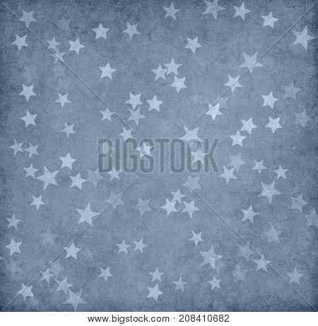 Grunge  paper decorated with stars.