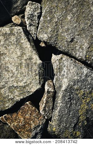 abstract background granite boulders on top of each other