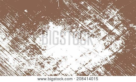 brown scratches. amber paint. chocolate shabby scratched background. abstract grunge texture. coffee and white vector illustration.