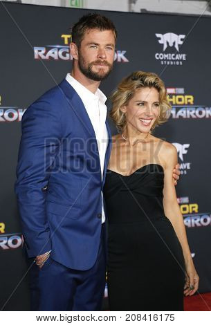 Elsa Pataky and Chris Hemsworth at the World premiere of 'Thor: Ragnarok' held at the El Capitan Theatre in Hollywood, USA on October 10, 2017.