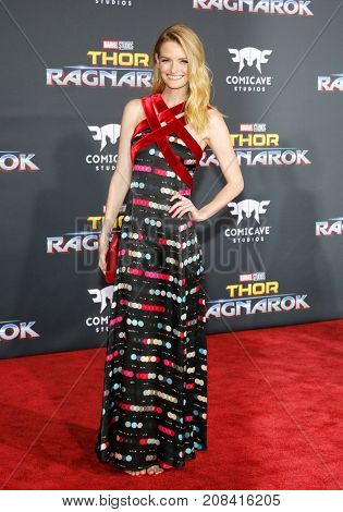 Lydia Hearst at the World premiere of 'Thor: Ragnarok' held at the El Capitan Theatre in Hollywood, USA on October 10, 2017.
