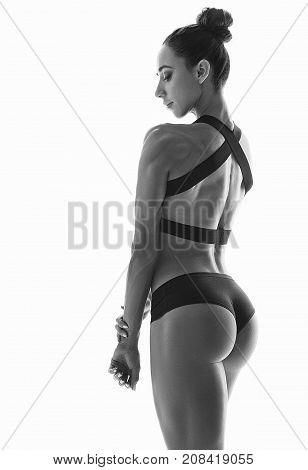 Muscular Young Woman Athlete