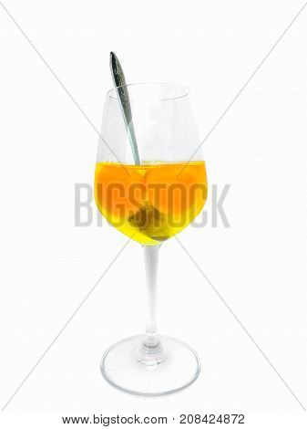 Body Building nutrition raw eggs in a glass