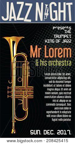 Poster Jazz Festival Trumpet Vector Illustration.eps
