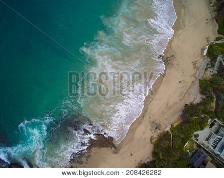 Top View Of Shaws Cove, Laguna Beach, California.