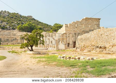 The Assembly Hall Of The Lycian League, Vouleuterion In Ancient City Patara.