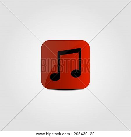 Music notes on a red background. Vector illustration.