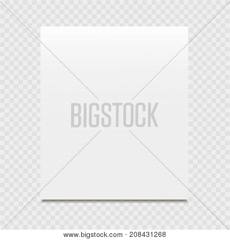 Clear list of paper on a grey background. Vector illustration.