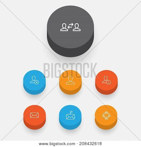 Network Icons Set. Collection Of Message, Business Exchange, Significant And Other Elements