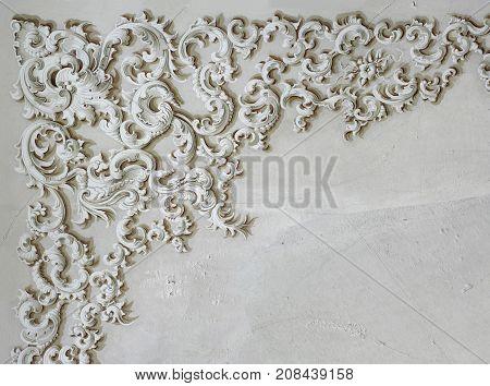 Baroque ornament fresco art detail wall interior