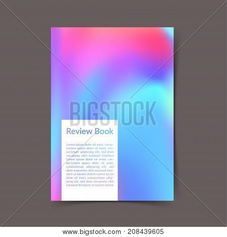 Bright colorful portfolio book cover ready to print layout. Modern color harmony office folder template. Fluid gradient Vector illustration
