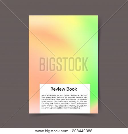 Soft green and pink bright color harmony modern book cover. Office folder template. Fluid gradient Trendy portfolio cover background design. Vector illustration
