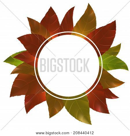 Seasonal autumn sale shop empty banner template. Happy Thanksgiving day promotional seasonal discount announcement. Vector illustration