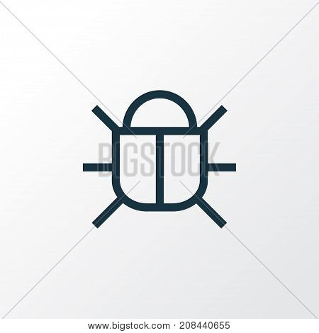 Premium Quality Isolated Bug Element In Trendy Style.  Virus Outline Symbol.