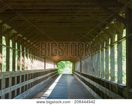 Covered Wooden Bridge in Knox County Ohio named
