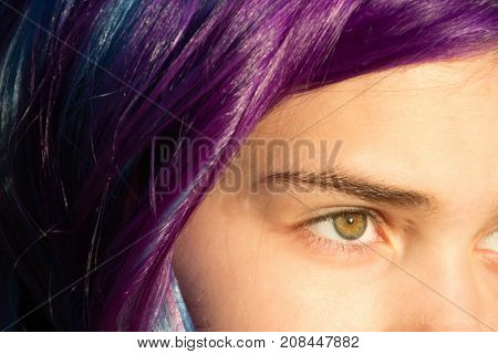 Eyes girls with extreme hair color, mermaid, Malvina