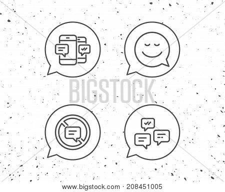 Message, Smile Speech Bubble And Communication.
