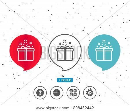 Gift Box Line Icon. Present Sign.