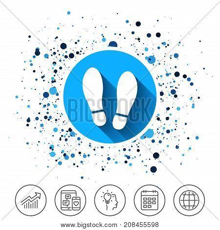 Imprint Shoes Sign Icon. Shoe Print Symbol.