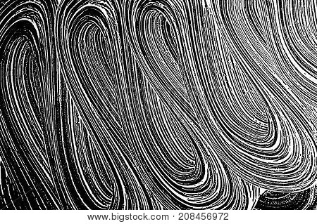 Grunge Soap Texture Black And White. Distress Black And White Rough Foam Trace Delightful Background