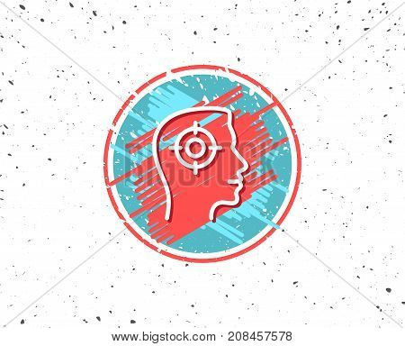 Head Hunting Line Icon. Business Target Sign.