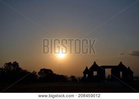 Closer To Ratu Boko Temple In Yogyakarta, Indonesia