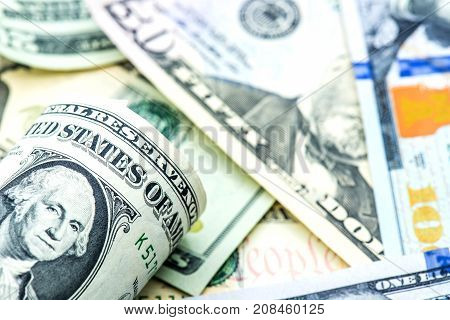 Dollar currency Banknotes of America money and finace