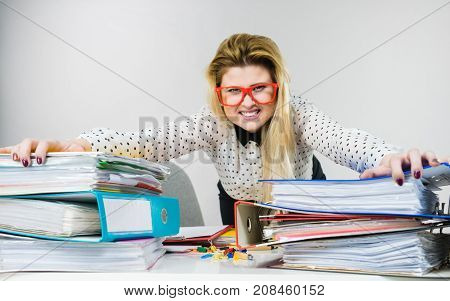 Energized Business Woman In Office