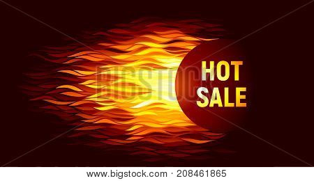 Hot sale offer on fire background Eps8. RGB. Global colors