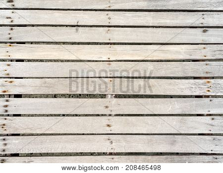 Grunge Rotting Pale Wood Plank Bridge Floor Texture Background