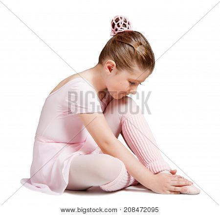 a classical ballerina isolated on white background