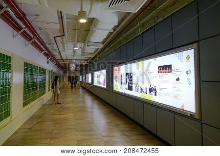 Underground Metro Station In Singapore