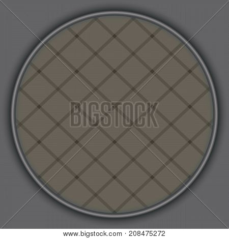 banner circle gray squares chess. poster grey round. abstract grey background pattern. monochrome grunge texture. halftone effect. vector illustration