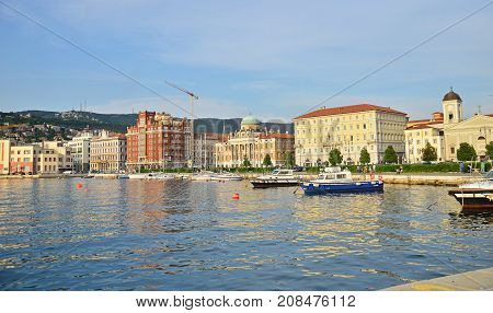 View on Trieste town in North part of Italy, Europe