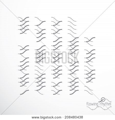 Vector cybernetic background chaotic abstract lines illustration.