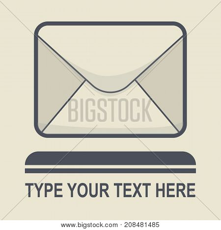 Message icon in flat style vector icon with black and white colors web banner