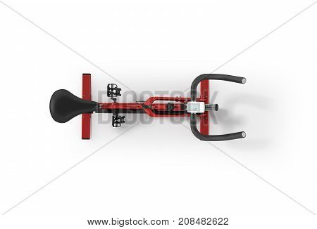 Sports Bikes Home From Above Red 3D Render On White Background