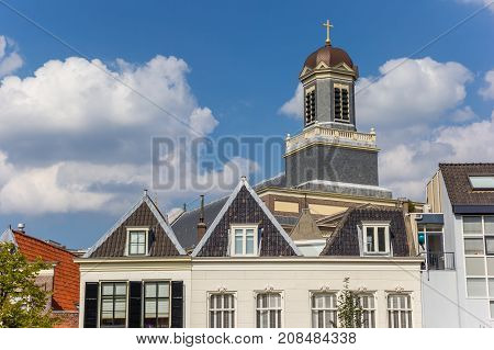 Tower Of The Hartebrugkerk Church In Leiden