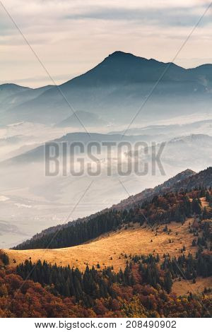 View At The Hill Choc In Slovakia, Central Europe.