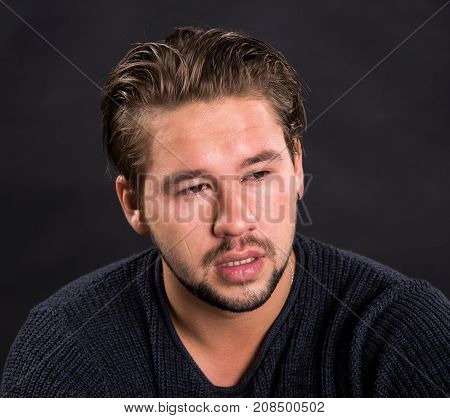 Young Handsome Crying Man