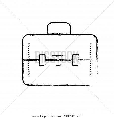 figure elegant briefcase to save business documents vector illustration
