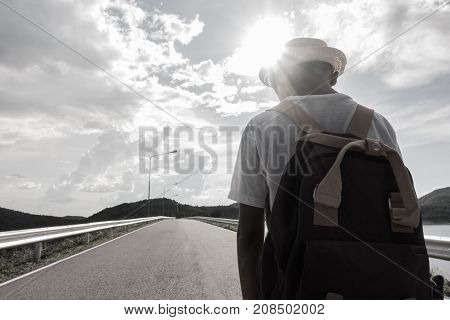 young asian boy feeling Alone and scared