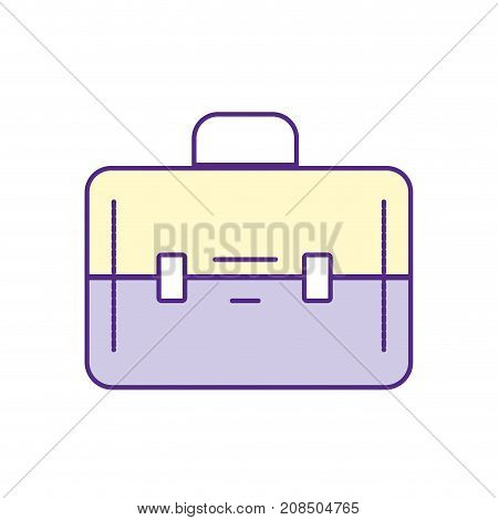 elegant briefcase to save business documents vector illustration