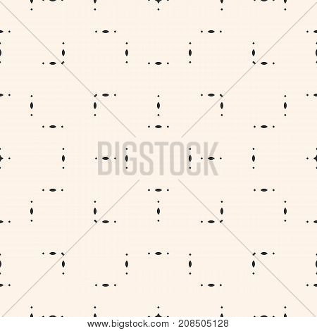Vector minimalist pattern abstract geometric seamless texture with tiny geometrical shapes, ovals, rhombuses. Subtle modern background. Simple design element for prints, paper, stationery, package. Geometric background. Rhombuses background.