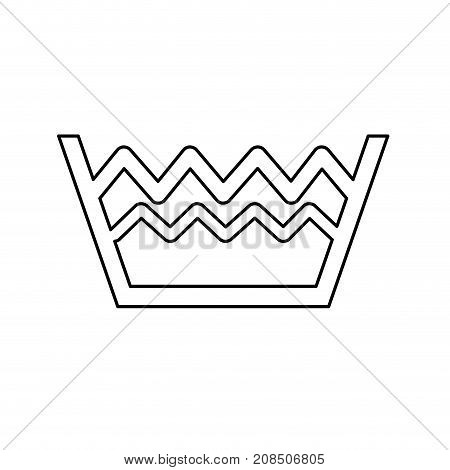 line pail with water level to clean clothes vector illustration