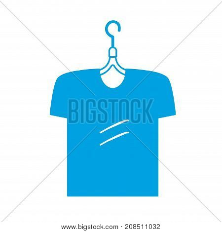 silhouette man t-shirt casual design style vector illustration